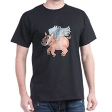 flying Pig 2 Dark T-Shirt