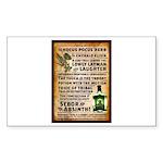 Absinthe Vintage Liquor  Sticker (Rectangle 10 pk)