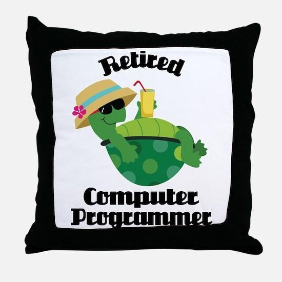 Retired Computer Programmer Throw Pillow