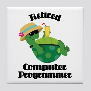 Retired Computer Programmer Tile Coaster