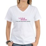 LRCafePressArt4 copy Women's V-Neck T-Shirt