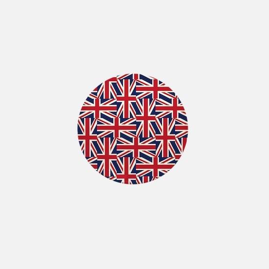 Union Jack Patchwork Herringbone Mini Button