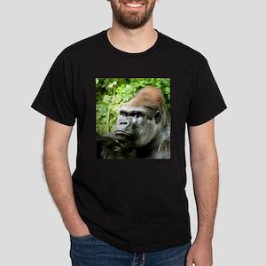 Earnie Silverback gorilla looking forward Dark T-S