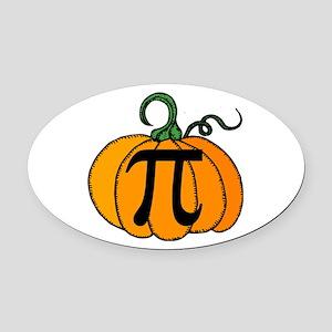 Pumpkin Pi Oval Car Magnet