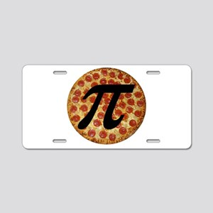 Pizza Pi Aluminum License Plate
