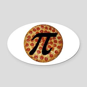 Pizza Pi Oval Car Magnet