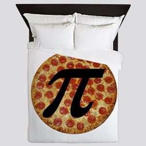 Pizza Pi Queen Duvet