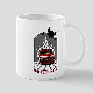 Rebel in hell (red) Mug
