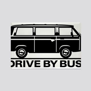 Drive by Bus 3 Rectangle Magnet