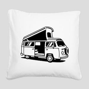 Family Camper Van Square Canvas Pillow