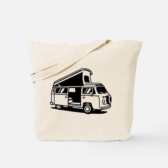 Family Camper Van Tote Bag