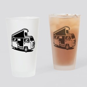 Family Camper Van Drinking Glass
