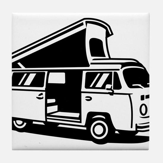 Family Camper Van Tile Coaster
