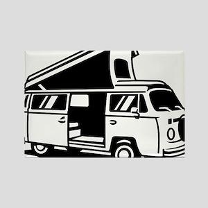 Family Camper Van Rectangle Magnet