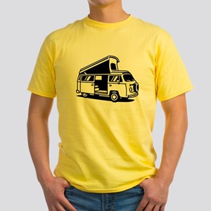 Family Camper Van Yellow T-Shirt
