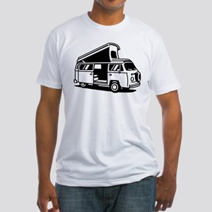 Family Camper Van Fitted T-Shirt
