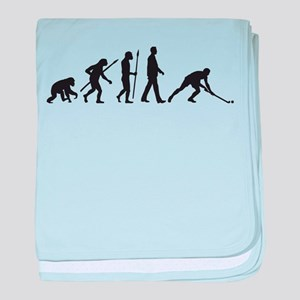 evolution fieldhockey player baby blanket