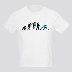 evolution fieldhockey player Kids Light T-Shirt