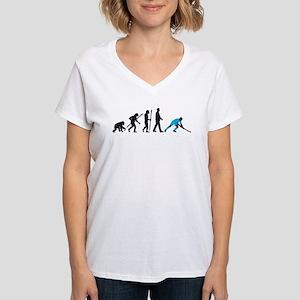evolution fieldhockey player Women's V-Neck T-Shir