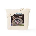 Raccoons Rule Custom Tote Bag