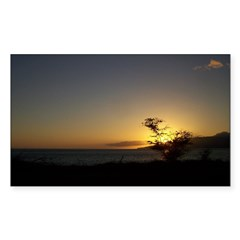 Maui Sunset Sticker (Rectangle 50 pk)