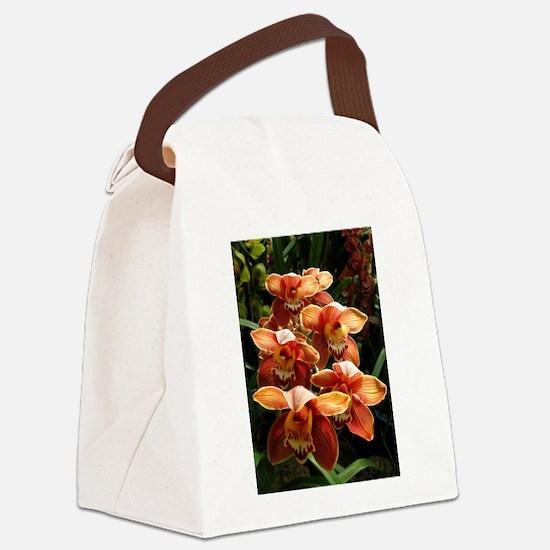 OrangeOrchidaceae.jpg Canvas Lunch Bag