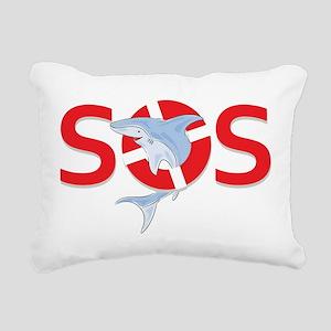 SOS logo Rectangular Canvas Pillow