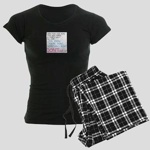 Dont Give Up Women's Dark Pajamas