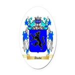 Abade Oval Car Magnet