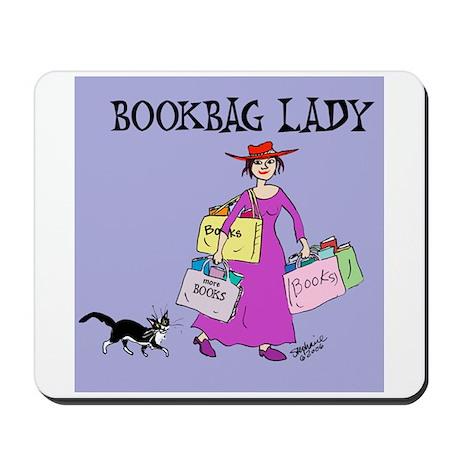 BOOKBAG LADY Mousepad