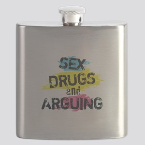 Sex Drugs and arguing Flask