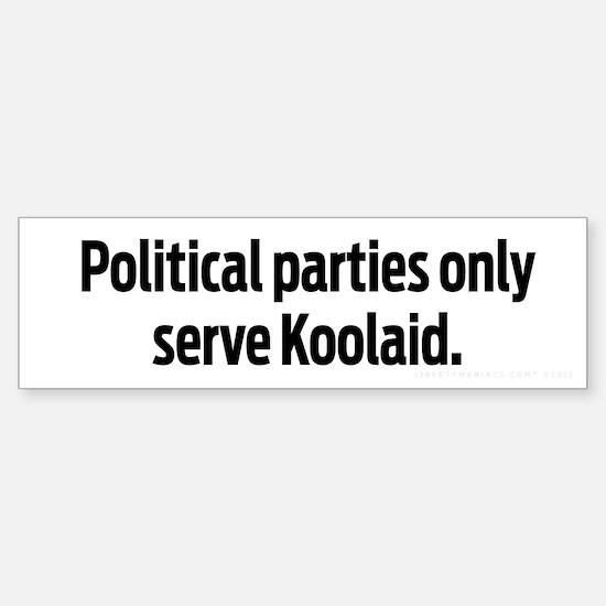 Political Parties Serve Koolaid Sticker (Bumper)