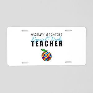 Worlds Greatest Special Needs Teacher Aluminum Lic