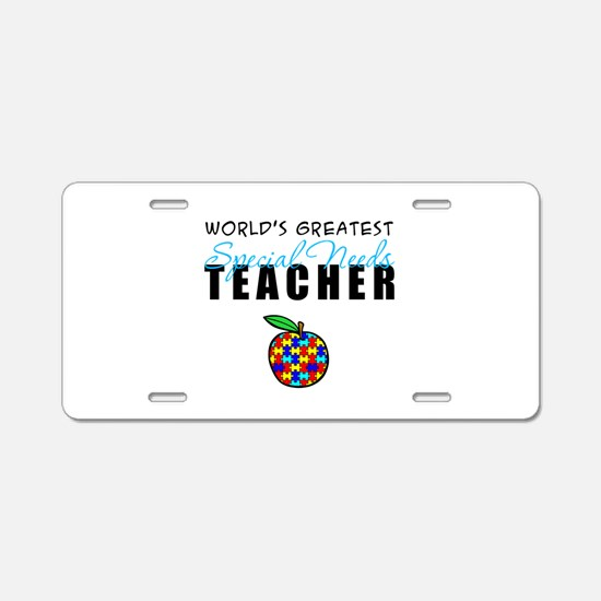 Worlds Greatest Special Needs Teacher Aluminum Lic
