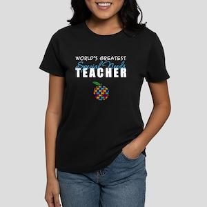 Worlds Greatest Special Needs Teacher Women's Dark