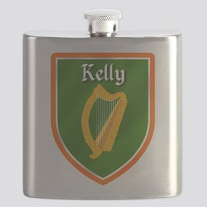 Kelly Family Crest Flask