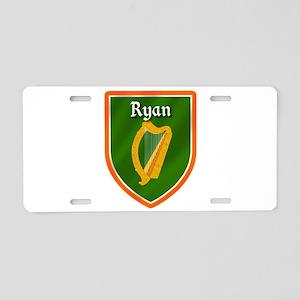 Ryan Family Crest Aluminum License Plate