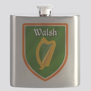 Walsh Family Crest Flask