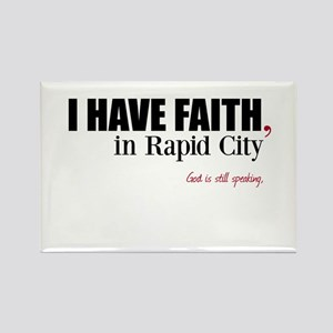 Faith in Rapid City Rectangle Magnet