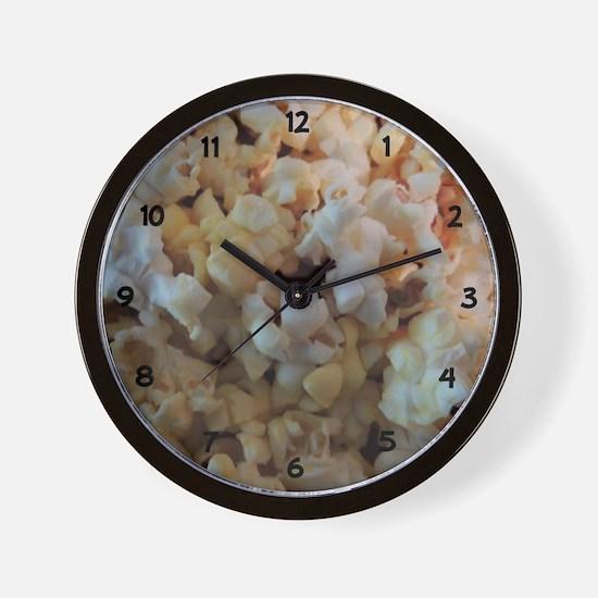 Popcorn Photograph Numbers Wall Clock