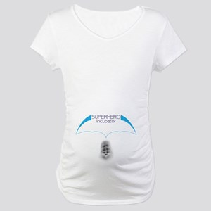 Maternity T-Shirt, Superhero Incubator with abs