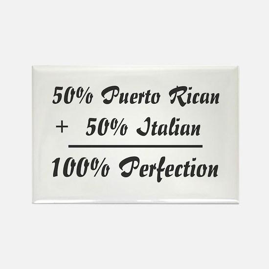 Half Italian, Half Puerto Ric Rectangle Magnet (10