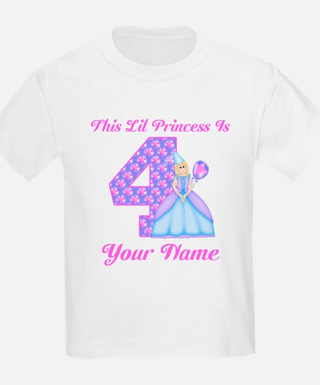 4th Birthday Princess Girl T-Shirt