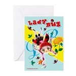 Lady Bug Greeting Cards (Pk of 10)