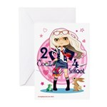2 Cool 4 School Greeting Cards (Pk of 10)
