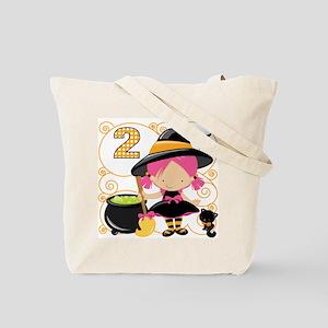 Girls 2 Halloween Tote Bag