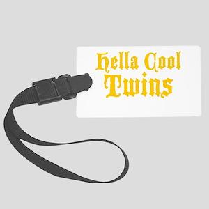 Hella Cool Twins Large Luggage Tag