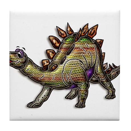 Scaly Rainbow Dinosaur Tile Coaster