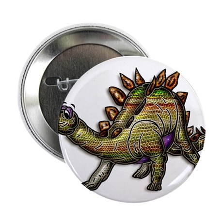 "Scaly Rainbow Dinosaur 2.25"" Button"