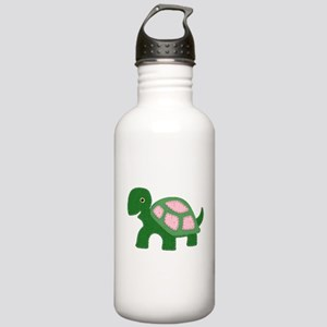 Tiny Pink Girl Turtle Stainless Water Bottle 1.0L